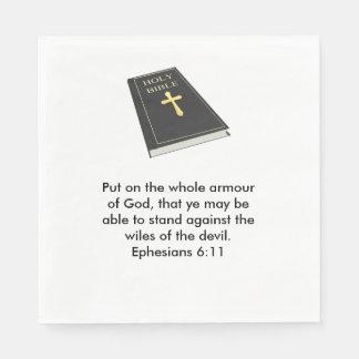 Rüstung der Gott-Servietten w/Bible Papierserviette