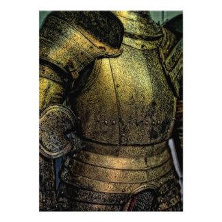 Rüstung des mittelalterlichen Ritters Einladung