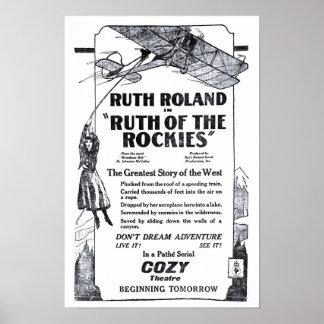 Ruth Roland 1920 Vintages Filmanzeigenplakat