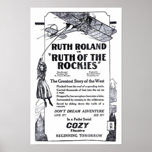 Ruth Roland 1920 Vintages Filmanzeigenplakat Posterdruck