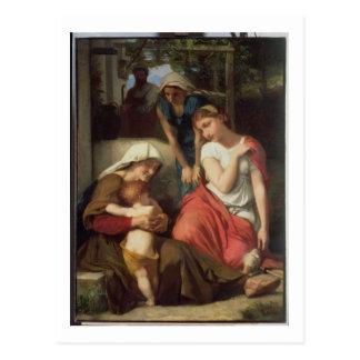 Ruth und Naomi, 1859 (Öl auf Leinwand) Postkarte