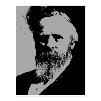 Rutherford- B. HayesSilhouette Postkarte