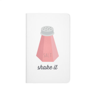 Rütteln Sie es | rosa Salz-Schüttel-Apparat Taschennotizbuch