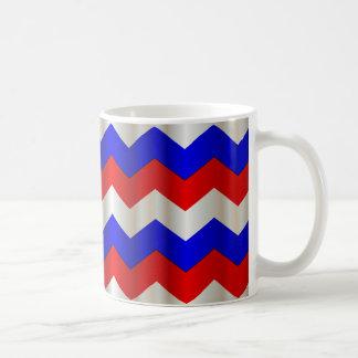 RWB metallisches Zickzack Kaffeetasse