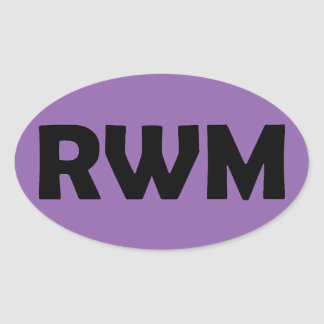 RWM Oval-Aufkleber Ovaler Aufkleber