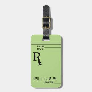 Rx Verordnungs-Auflage - schreiben Sie Ihre eigene Gepäckanhänger