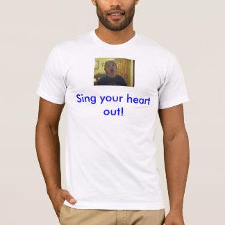 Ryan hörte, Ihren Herz T - Shirt heraus zu singen