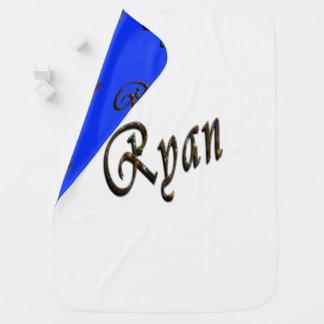 Ryan, Name, Logo, Reversible-gemütlich Baby-Decke Puckdecke