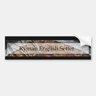 Ryman englischer Setzer Autoaufkleber