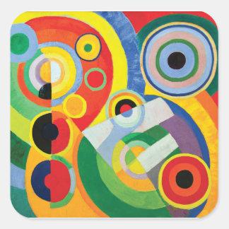 Rythme Joie de Vivre durch Robert Delaunay Quadratischer Aufkleber