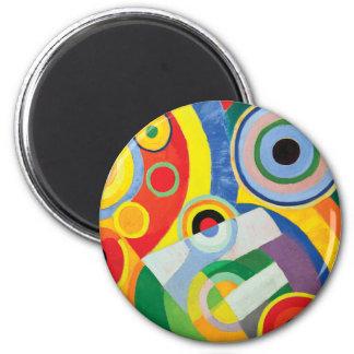 Rythme Joie de Vivre durch Robert Delaunay Runder Magnet 5,1 Cm