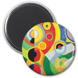 Rythme Joie de Vivre durch Robert Delaunay Runder Magnet 5,7 Cm