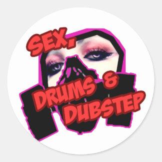 S3X TROMMELN und DUBSTEP Runder Sticker