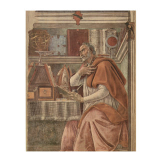 S. Augustinus im Studio Sandro Botticelli Holzleinwand