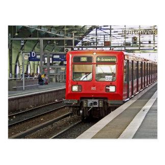S - bahn Berlin, Deutschland. Metro Postkarte