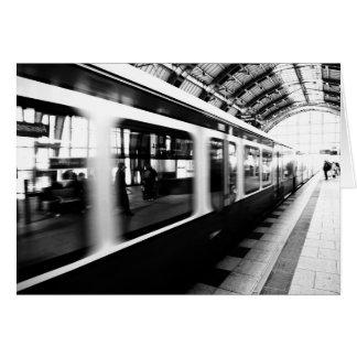S-Bahn Berlin Schwarz Weiß Fotografie Grußkarten