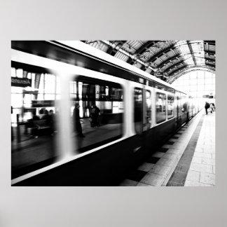 S-Bahn Berlin Schwarz Weiß Fotografie Plakate