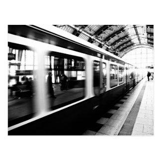 S-Bahn Berlin Schwarz Weiß Fotografie Postkarte