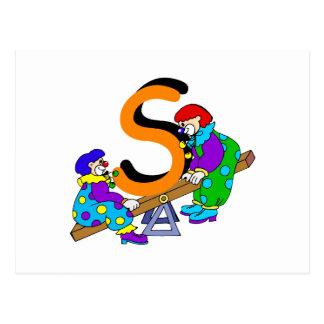 S-Clown Postkarte