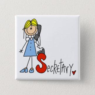 S ist für Sekretär Quadratischer Button 5,1 Cm