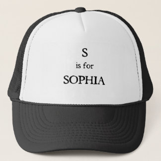 S ist für Sophia Truckerkappe