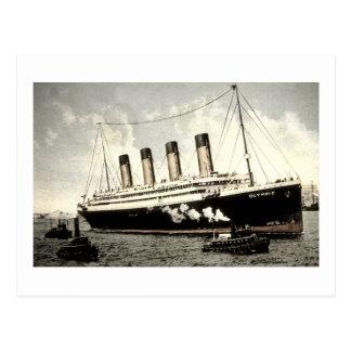S S Olympischer Stern weißer Stern Line 1913 Postkarte