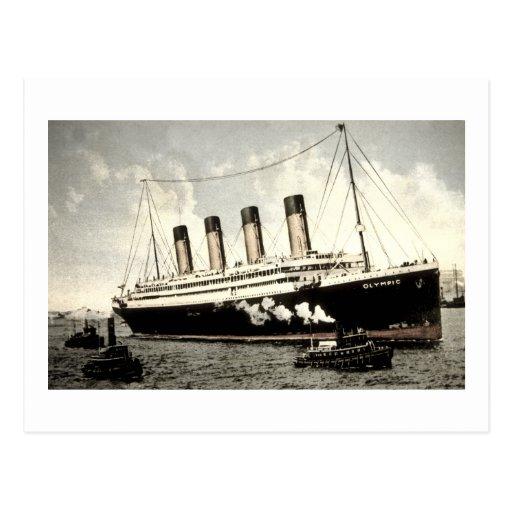 S.S. Olympischer Stern, weißer Stern Line, 1913 Postkarte