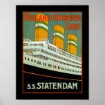 s.s. Statendam Plakat
