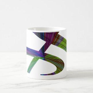 """""""S"""", """"u."""" und/oder dreifacher Clef-musikalische Kaffeetasse"""