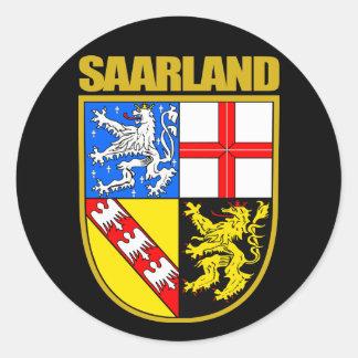 Saarland Runder Aufkleber