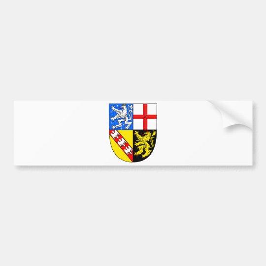 Saarland Wappen Autoaufkleber