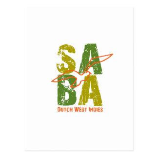Saba DWI Postkarte