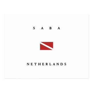 Saba niederländische postkarte