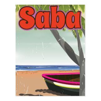 Saba Vintages Reiseplakat Postkarte