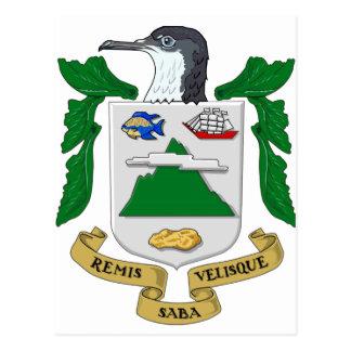Saba Wappen Postkarte