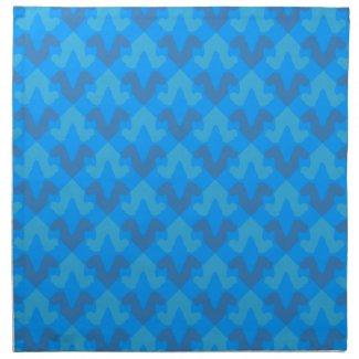 Sabbertuch für Menschen blau Kopf Stoff Serviette