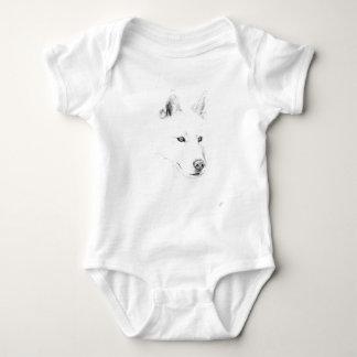 Säbel ein sibirischer Schlittenhund, der Baby Strampler
