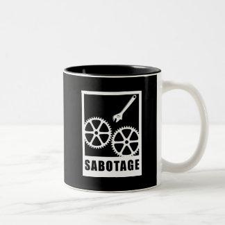 Sabotage Zweifarbige Tasse