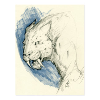 SABRE-Zahn-Tigerpostkarte Postkarte