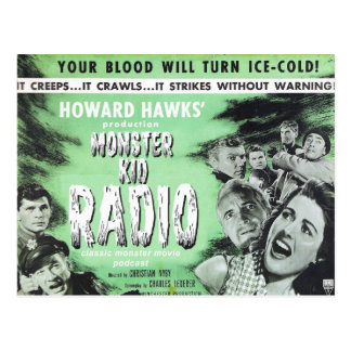 Sache-Postkarte vom Monster-Kinderradio Postkarte