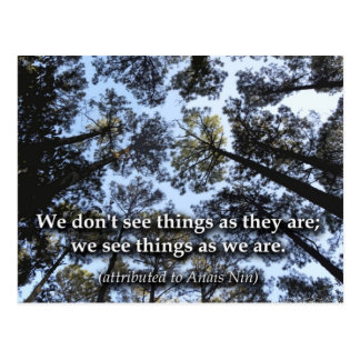 Sachen (Bäume) sehen Postkarte