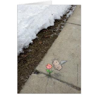 Sachen so unwahrscheinlich wie Frühjahr Karte