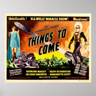 Sachen zum zu kommen - Vintages Film-Plakat 1936