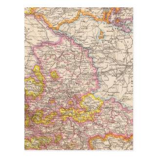 Sachsen, Mecklenburg, Anhalt Atlas-Karte Postkarte