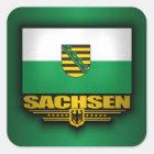 Sachsen-Stolz Quadratischer Aufkleber