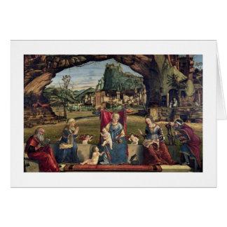 Sacra Conversazione, c.1500 (Öl auf Platte) (für Karte