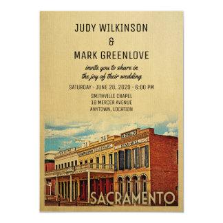 Sacramento-Hochzeits-Einladung Kalifornien Karte