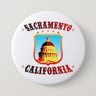 Sacramento Kalifornien Runder Button 7,6 Cm