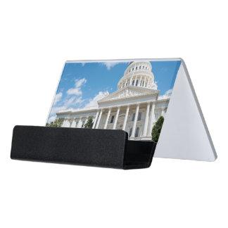 Sacramento-Staats-Hauptstadt von Kalifornien Schreibtisch-Visitenkartenhalter