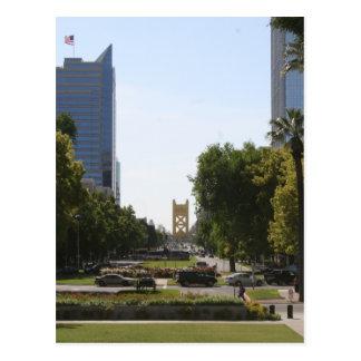 Sacramento: Turm-Brücke vom Hauptstadts-Mall Postkarte